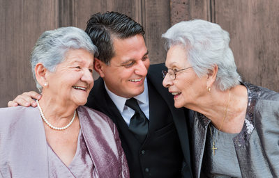 Family Photos of Grandmothers at San Gabriel Mission