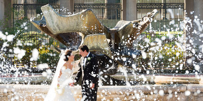 Wedding Fountain Portrait