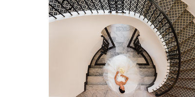 Bridal Portrait: Estate Staircase