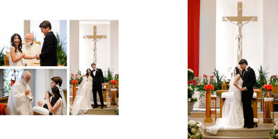 Exchanging Wedding Vows at Good Shepherd Church