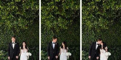 Triptych of Kissing Couple at SLS Hotel Beverly Hills