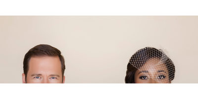 Quirky Portrait of Bride and Groom at Terranea Resort