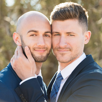 Love and Tenderness with Stylish Gay Couple