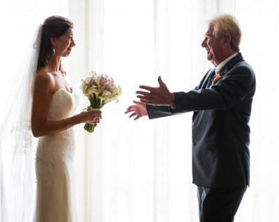 Father's First Look: Emotional Bride