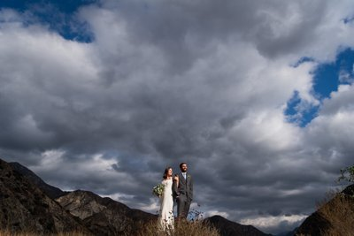 Mountaintop Bride & Groom Portrait