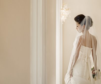 Indoor Bridal Portrait: Window Light
