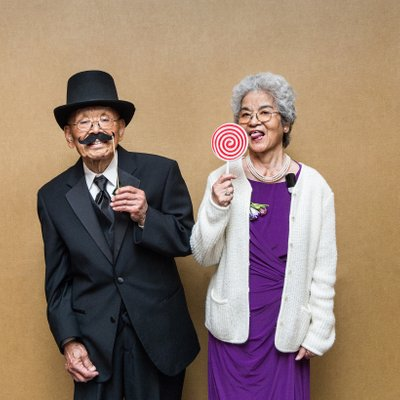 Quirky Groom's Grandparents