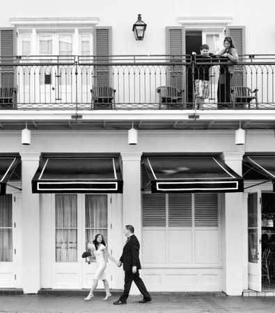 Outdoor Wedding Portraits: Upstairs Observers